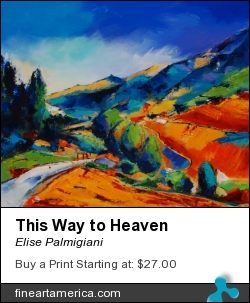 This Way To Heaven by Elise Palmigiani - Painting - Oil On Canvas