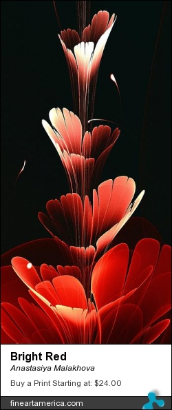 Bright Red by Anastasiya Malakhova - fractal art