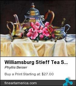 Williamsburg Stieff Tea Set by Phyllis Beiser - Painting - Oil On Canvas