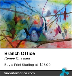 Branch Office by Renee Chastant - Painting - Watercolor On Paper