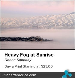 Heavy Fog At Sunrise by Donna Kennedy - Photograph - Photograph