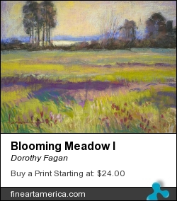 Blooming Meadow I by Dorothy Fagan - Painting - Pastel On Linen