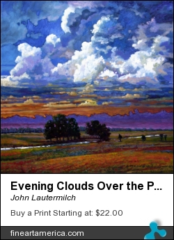 Evening Clouds Over The Prairie by John Lautermilch - Painting - Oil On Canvas