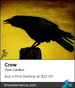 Crow by Tom Carlton - Painting - Acrylic Paint