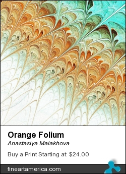 Orange Folium by Anastasiya Malakhova - fractal art