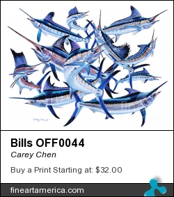 Bills Off0044 by Carey Chen - Painting - Acrylic On Canvas