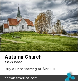 Autumn Church by Erik Brede - Photograph - Photograph