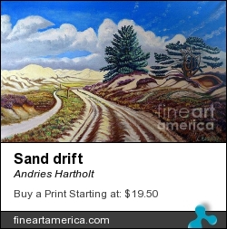 Sand Drift by Andries Hartholt - Painting - Oil On Canvas