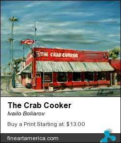 The Crab Cooker by Ivailo Boliarov - Painting - Oil On Canvas