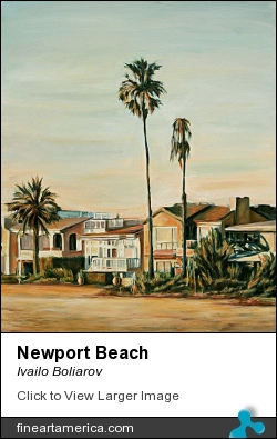 Newport Beach by Ivailo Boliarov - Painting - Oil On Canvas