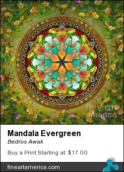 Mandala Evergreen by Bedros Awak - Digital Art - Digital Art