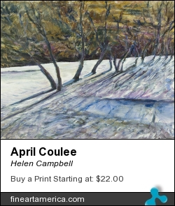 April Coulee by Helen Campbell - Painting - Acrylic On Canvas