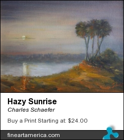 Hazy Sunrise by Charles Schaefer - Painting - Oil Canvas
