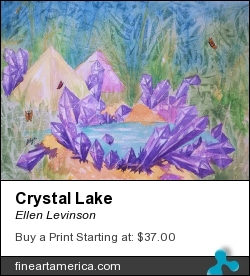 Crystal Lake by Ellen Levinson - Painting - Watercolor