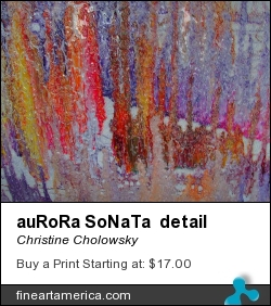 auRoRa SoNaTa detail by Christine Cholowsky - Mixed Media - Mixed Media On Board
