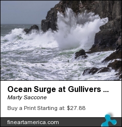 Ocean Surge At Gullivers 2 by Marty Saccone - Photograph - Fine Photography