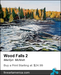 Wood Falls 2 by Marilyn  McNish - Painting - Acrylic On Canvas