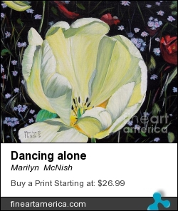 Dancing Alone by Marilyn  McNish - Painting - Acrylic On Canvas