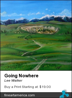 Going Nowhere by Lee Walker - Painting - Acrylic On Canvas