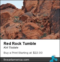 Red Rock Tumble by Kirt Tisdale - Digital Art - Photograph
