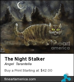 The Night Stalker by Angel  Tarantella - Painting