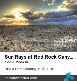 Sun Rays At Red Rock Canyon State Park by Eddie Yerkish - Photograph - Hdr Photograph