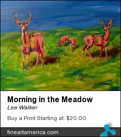 Morning In The Meadow by Lee Walker - Painting - Acrylic On Canvas