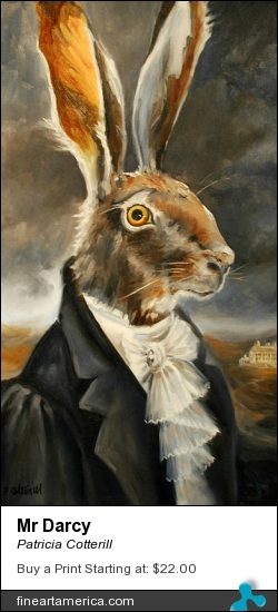 Mr Darcy by Patricia Cotterill - Painting - Oil On Canvas