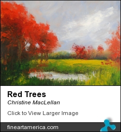 Red Trees by Christine MacLellan - Painting - Oil Painting