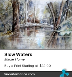 Slow Waters by Madie Horne - Painting