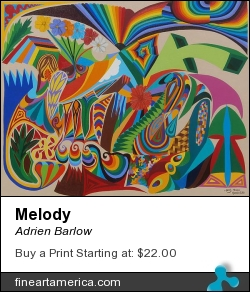 Melody by Adrien Barlow - Painting - Acrylic On Canvas