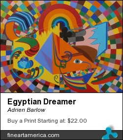 Egyptian Dreamer by Adrien Barlow - Painting - Acrylic On Canvas