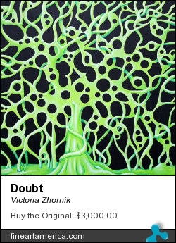 Doubt by Victoria Zhornik - Painting - Acrylic On Canvas