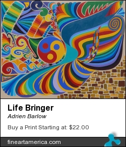 Life Bringer by Adrien Barlow - Painting - Acrylic On Canvas