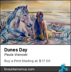 Dunes Day by Paula Visnoski - Painting - Watercolor On Aches Paper