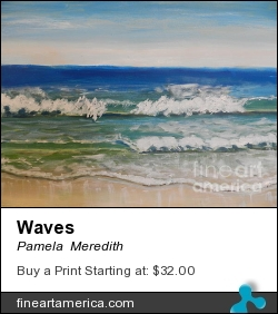 Waves by Pamela  Meredith - Painting - Acrylics On Gallery Canvas
