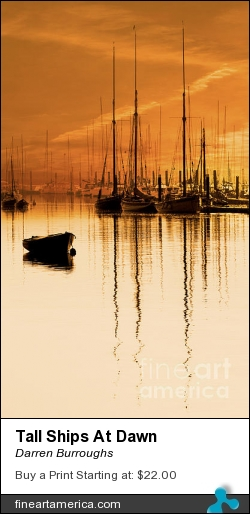 Tall Ships At Dawn by Darren Burroughs - Photograph - Photography