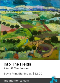 Into The Fields by Allan P Friedlander - Painting - Acrylic On Gallery Wrapped Canvas