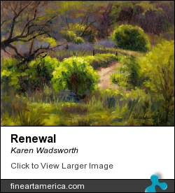 Renewal by Karen Wadsworth - Painting