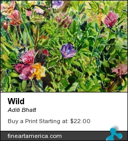 Wild by Aditi Bhatt - Painting - Water Colour