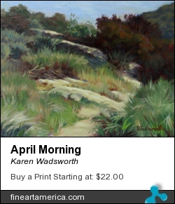 April Morning by Karen Wadsworth - Painting