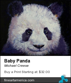 Baby Panda by Michael Creese - Painting - Oil On Canvas