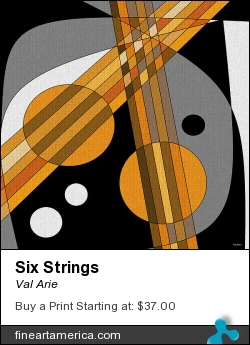 Six Strings by Val Arie - Digital Art - Digital Paint / Val Arie Original Art
