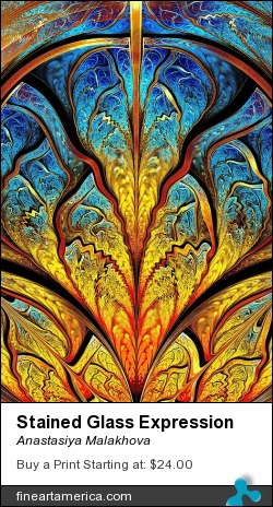 Stained Glass Expression by Anastasiya Malakhova - fractal art