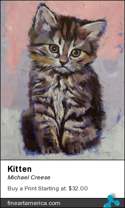 Kitten by Michael Creese - Painting - Oil On Canvas