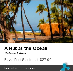 A Hut At The Ocean by Sabine Edrissi - Photograph - Photography/ Digital Art