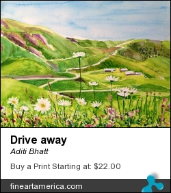 Drive Away by Aditi Bhatt - Painting - Water Colour