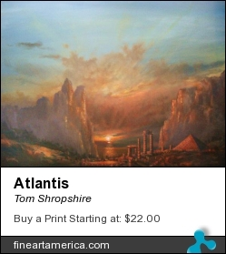 Atlantis by Tom Shropshire - Painting - Acrylic On Canvas