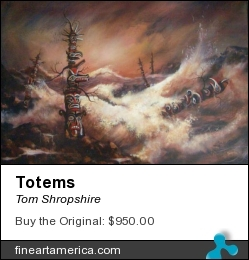 Totems by Tom Shropshire - Painting - Acrylic On Canvas