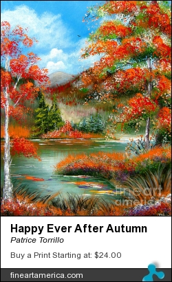 Happy Ever After Autumn by Patrice Torrillo - Painting - Acrylic On Canvas